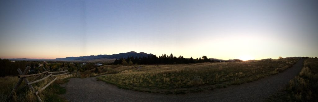 Sunrise over Bozeman